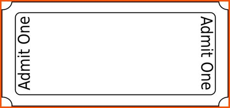 blank admission ticket template simple template for admission ticket with blank space and