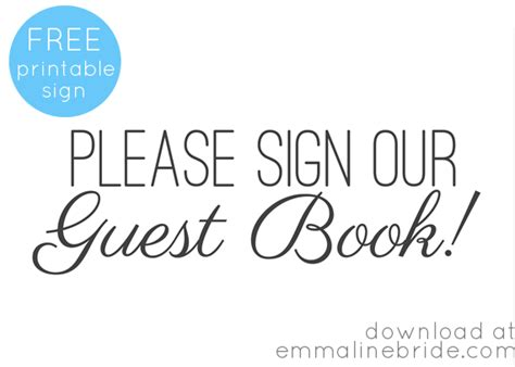 free printable guest book sign wedding pinterest