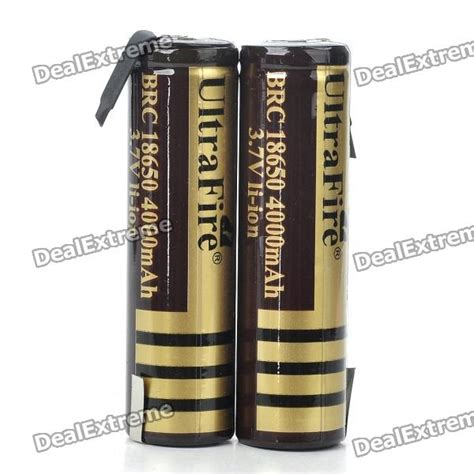 Baterai Ultrafire 3 7v 4000mah ultrafire brc 18650 3 7v quot 4000mah quot li ion batteries pair