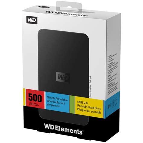 Harddisk Western Digital 500gb buy western digital elements 500gb portable drive 2 5 quot usb 2 0 at ijt direct
