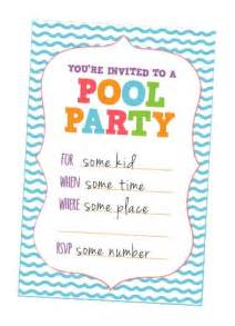 pool invites free printables