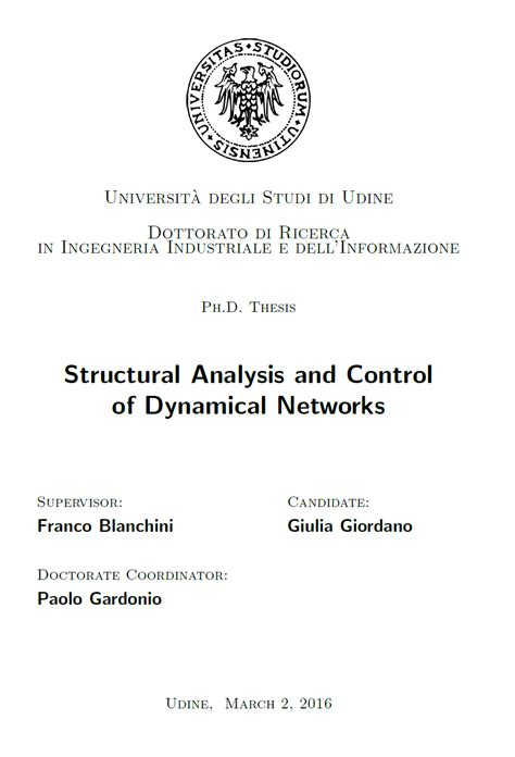 front page of dissertation sle phd thesis submitted giulia giordano
