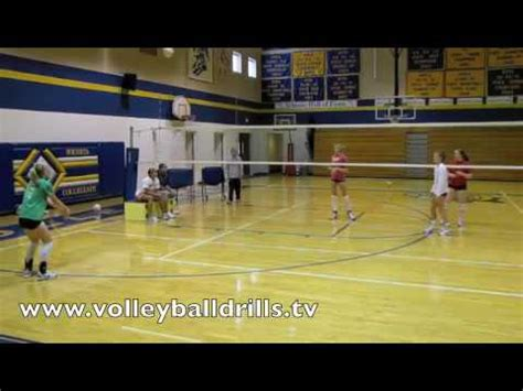 volleyball setter dump drills youth volleyball volleyball setter dump shot youtube