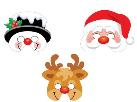 printable christmas masks christmas party masks partybag ie