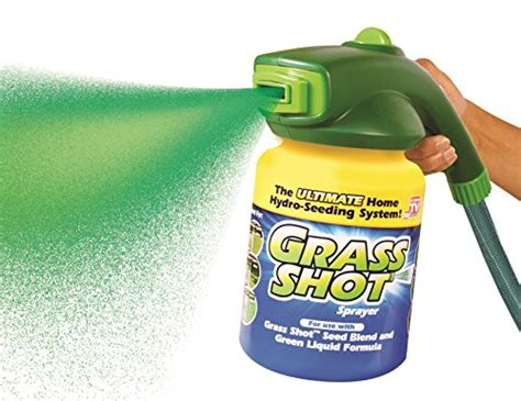 grass shot by bulb head the ultimate home hydro seeding system liquid spray seed lawn care food