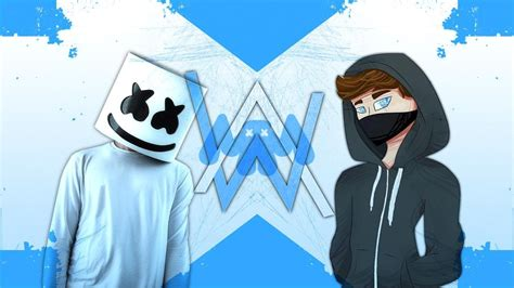 alan walker cartoon alan walker marshmello mix 2017 youtube