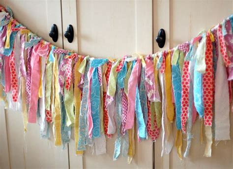 pattern for fabric garland too shabby easter torn fabric rag garland banner bunting