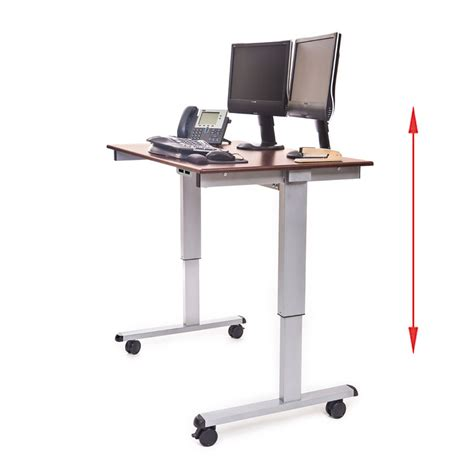 Standing Desk Electric by Luxor Stande 48 Ag Dw 48 Electric Standing Desk Silver