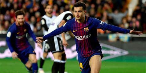 Kunci Goal Masuknya Coutinho Kunci Kemenangan Barcelona Bola Net