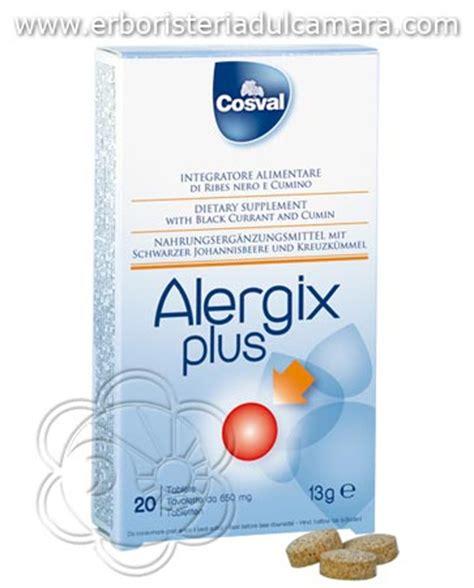 antistaminico per allergia alimentare aggiungi alergix plus 20 tavolette orosolubili cosval