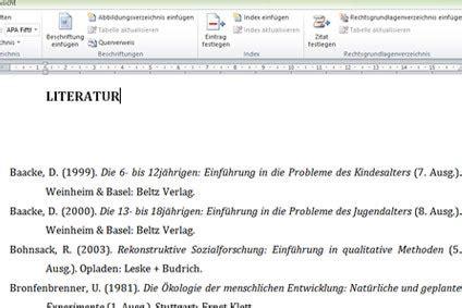 Word Vorlage Jura literaturverzeichnis in word erstellen tutorial