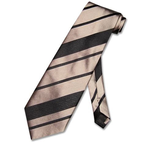 vesuvio napoli necktie taupe light brown woven striped