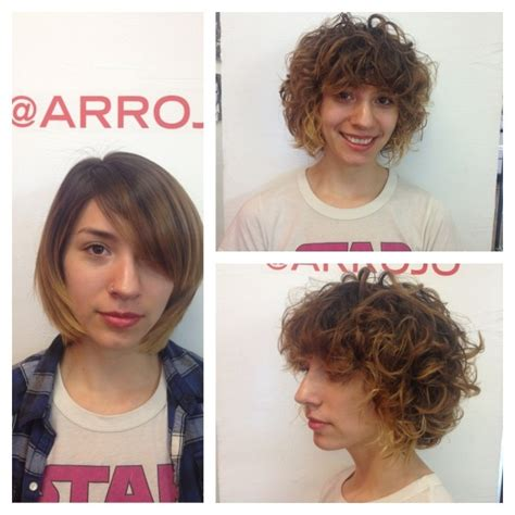 hair perm aarojo american wave arrojo studio chair shair pinterest