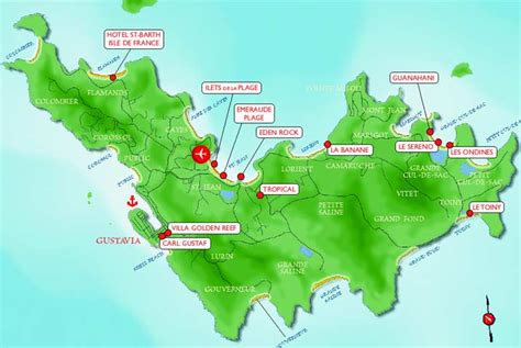 st barts map pin st barthelemy on