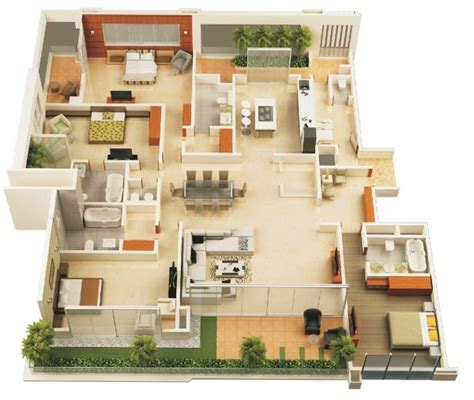 apartments with 4 bedrooms 4 bedroom apartment house plans