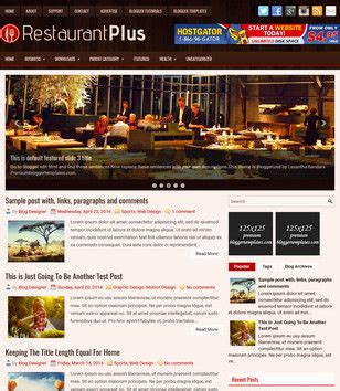 free blogger templates for restaurant food and drink blogger templates 2017 free download