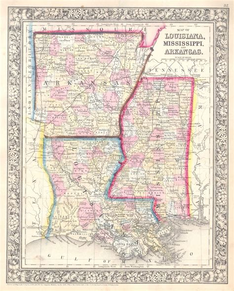 file 1864 mitchell map of louisiana mississippi and