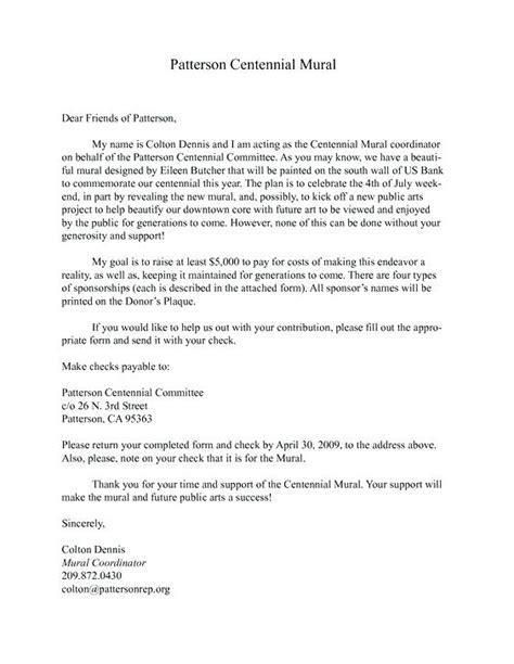 Fundraising Confirmation Letter sponsor letter sponsorship sponsor recommendation letter