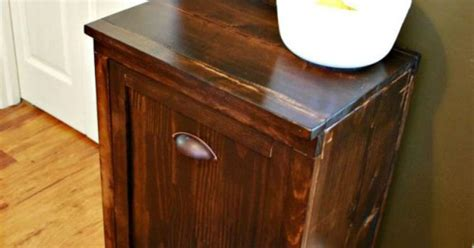 Waste Basket Cabinet by Diy Wooden Waste Basket Cabinet Hometalk
