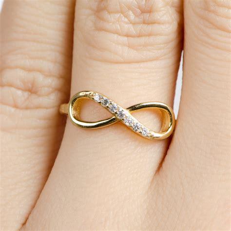 gold infinity ring infinity ring แหวนแห งร กน ร นดร jewelry gold