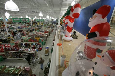 outdoor christmas lights at menards local outdoor decorators go snow global for the holidays