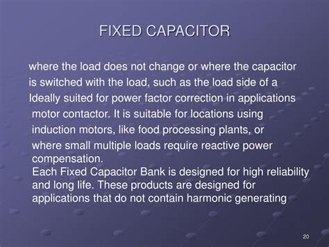 fixed capacitor applications ppt power factor correction powerpoint presentation id 410981