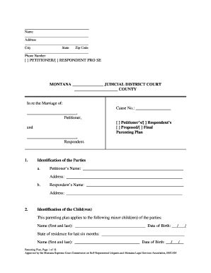 distance parenting plan template distance parenting plan parenting plan template