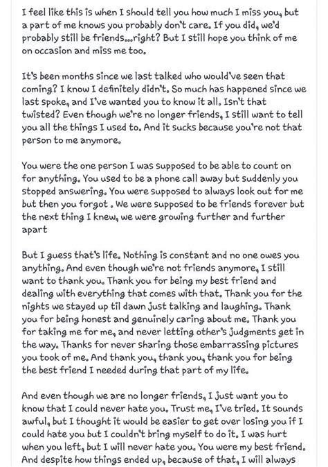 Open Letter To My Ex Best Friend