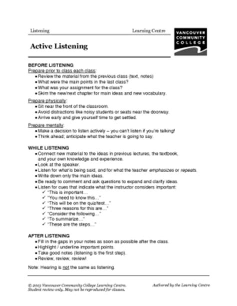 Skills Worksheet Active Reading by Active Listening Out Pictures To Pin On