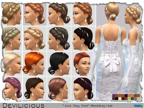 Wedding Hairstyles Sims 3 by The Sims 4 S Wedding Hair Free