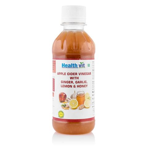 Apple Vinegar 250ml healthvit apple cider vinegar with garlic lemon