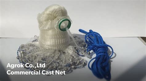 Handmade Cast Net - easy catch american professional saltwater clear fishing