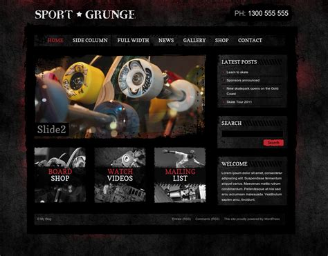 sporty free wordpress sports theme from template express sport grunge wordpress shop by dtbaker themeforest