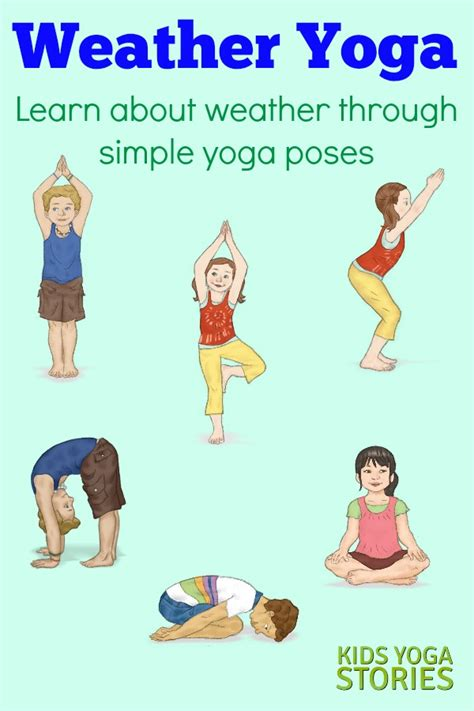 printable yoga poster weather activities for kids yoga printable poster