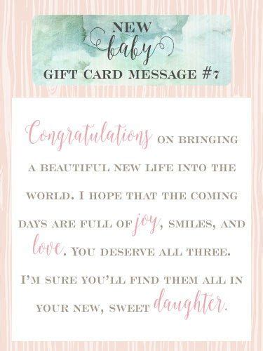15 best images about new baby gift card messages on each day my for you and
