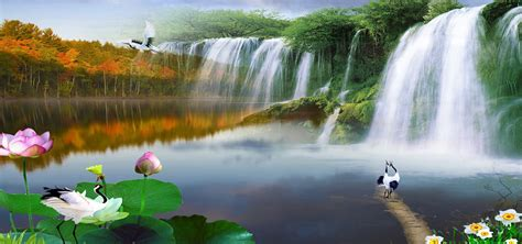 nature backgrounds nature background scenery waterfall background