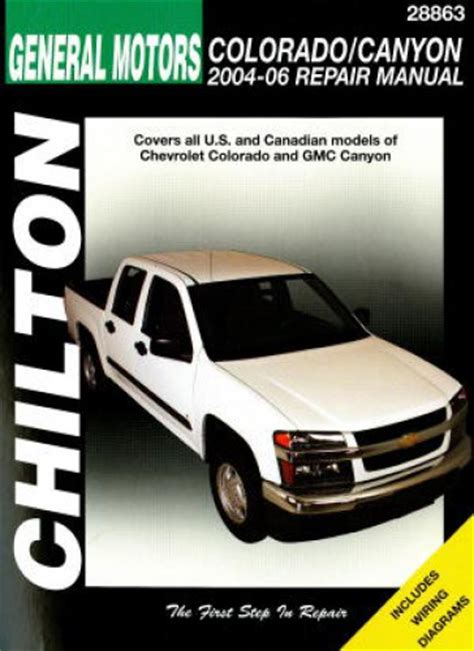all car manuals free 2004 chevrolet colorado spare parts catalogs chevrolet colorado gmc canyon 2004 2010 haynes truck repair manual
