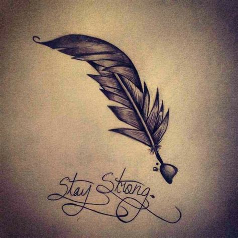 feather tattoo stay strong stay strong feather drawing tattoos