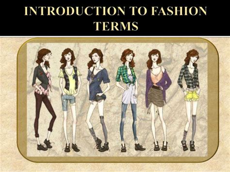 fashion design glossary fashion terminology in apparel industry