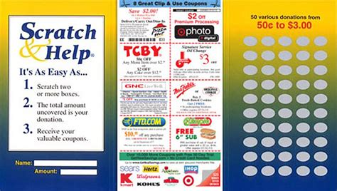 Fundraising Scratch Card Template by Scratch Card Fundraiser 90 Profit Abc Fundraising 174
