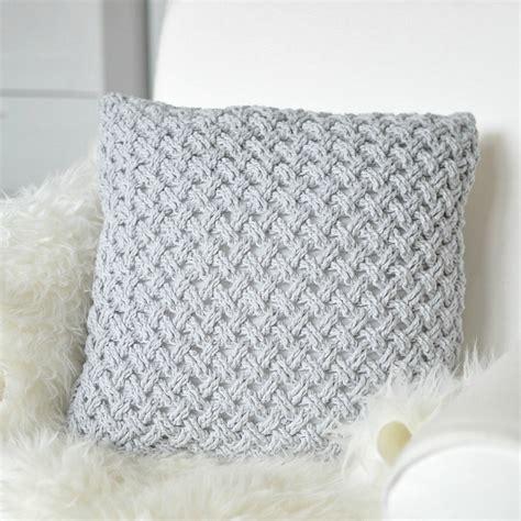 Crochet Pillow Patterns For Beginners by Crochet Pillow Light Grey Drops Crocheting Journal