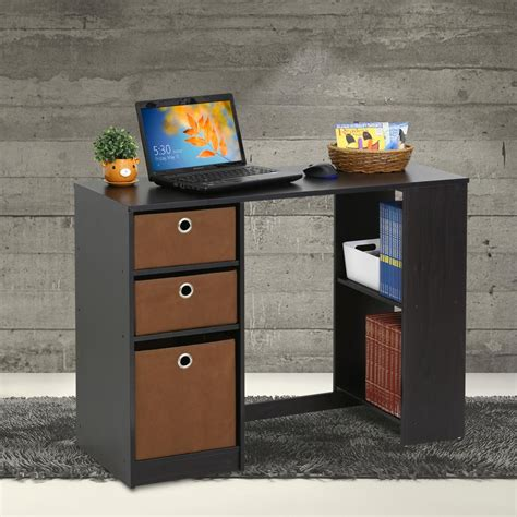 axess 1 drawer computer desk with south shore chocolate desk chocolate pure black axess 1
