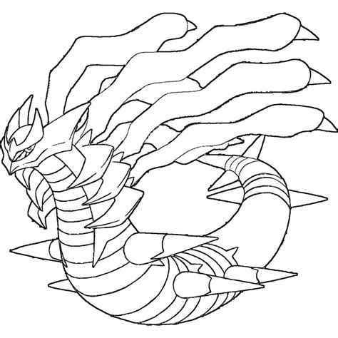pokemon coloring pages giratina giratina origin form lineart by skylight1989 on deviantart