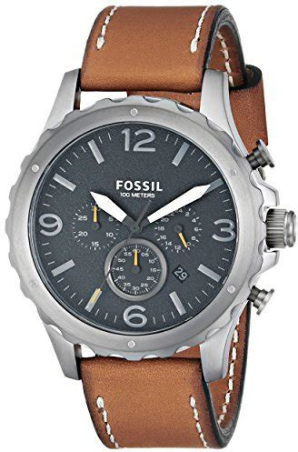 Fossil Original Jr 1436 Leather Stainless Steel fossil jr1467 nate stainless steel with leather band where to buy how to wear