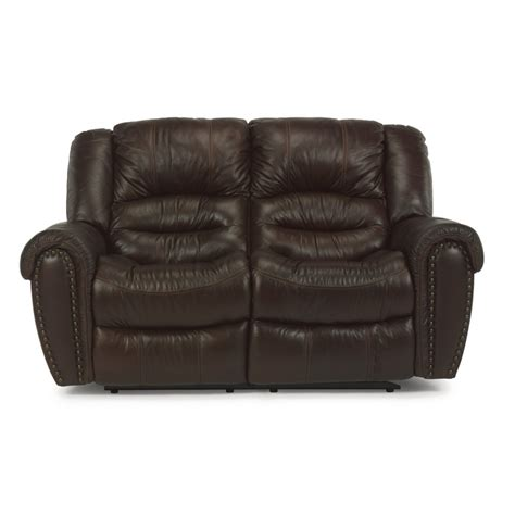 Flexsteel Reclining Loveseat by Flexsteel 1210 60p Crosstown Leather Power Reclining