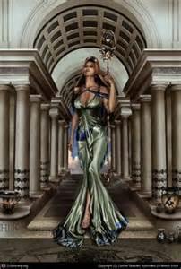 Lotus Tipped Staff Hera Goddess On Seiya Artemis Goddess