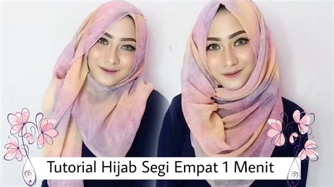tutorial hijab turban segi empat youtube 2 tutorial hijab segi empat pesta dlam 1 menit youtube