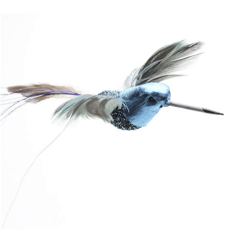 electric blue artificial hummingbirds birds