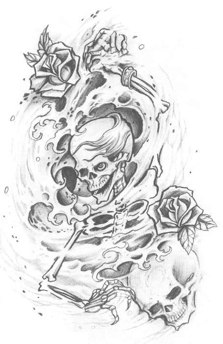 skull adn demon tattoo design img461 171 skulls demons 171 flash
