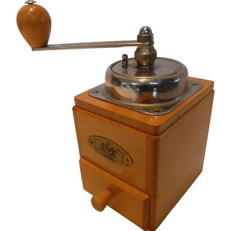 Countertop Grinder vintage zassenhaus wooden crank coffee mill grinder countertop from historique on ruby